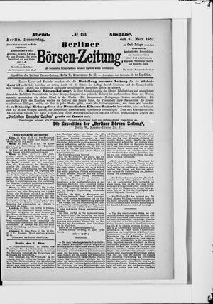 Berliner Börsen-Zeitung vom 31.03.1887