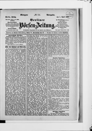 Berliner Börsen-Zeitung vom 01.04.1887