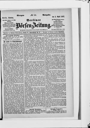 Berliner Börsen-Zeitung vom 03.04.1887