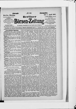 Berliner Börsen-Zeitung vom 05.04.1887
