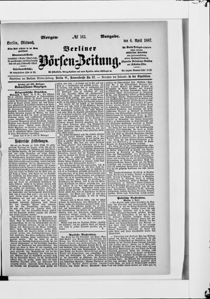 Berliner Börsen-Zeitung vom 06.04.1887