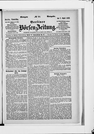 Berliner Börsen-Zeitung vom 07.04.1887