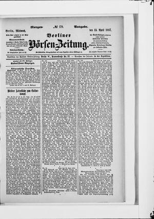 Berliner Börsen-Zeitung vom 13.04.1887