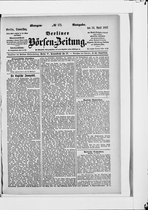 Berliner Börsen-Zeitung on Apr 14, 1887