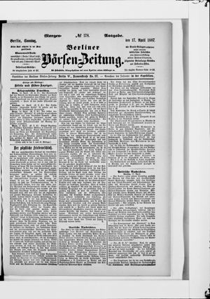 Berliner Börsen-Zeitung vom 17.04.1887