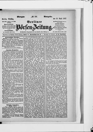 Berliner Börsen-Zeitung vom 19.04.1887