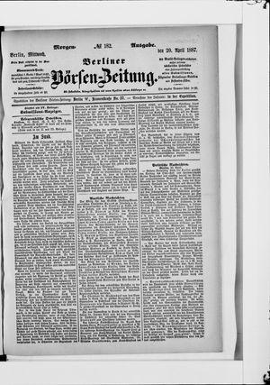 Berliner Börsen-Zeitung vom 20.04.1887