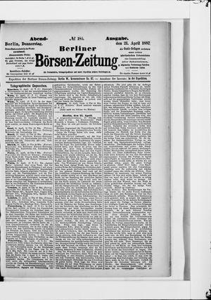 Berliner Börsen-Zeitung vom 21.04.1887