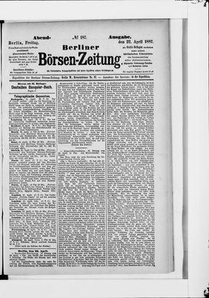 Berliner Börsen-Zeitung vom 22.04.1887