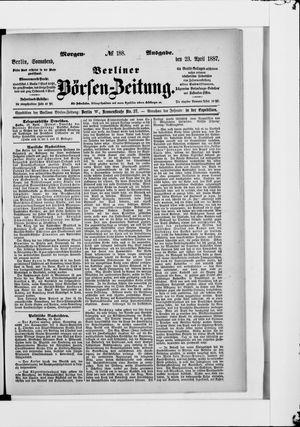 Berliner Börsen-Zeitung vom 23.04.1887