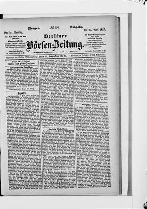 Berliner Börsen-Zeitung vom 24.04.1887
