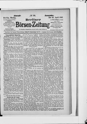 Berliner Börsen-Zeitung vom 25.04.1887