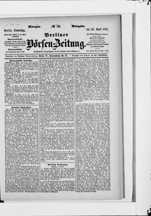 Berliner Börsen-Zeitung vom 28.04.1887