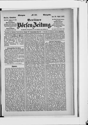 Berliner Börsen-Zeitung vom 30.04.1887