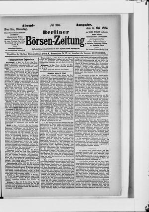 Berliner Börsen-Zeitung on May 3, 1887