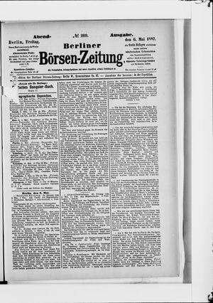 Berliner Börsen-Zeitung vom 06.05.1887