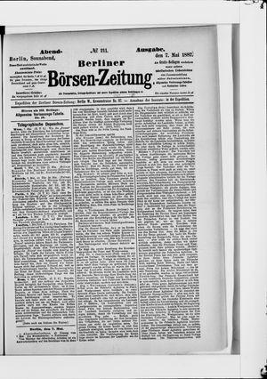 Berliner Börsen-Zeitung vom 07.05.1887