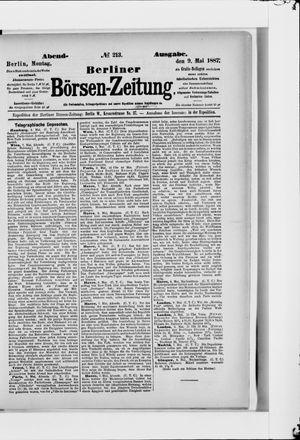 Berliner Börsen-Zeitung vom 09.05.1887