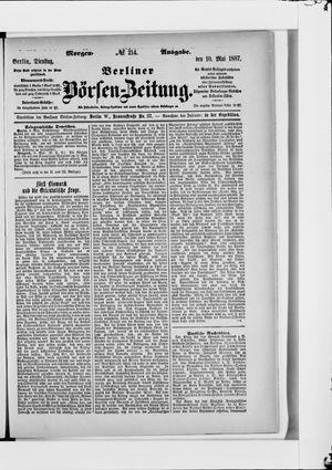 Berliner Börsen-Zeitung vom 10.05.1887