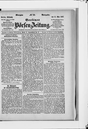 Berliner Börsen-Zeitung vom 11.05.1887