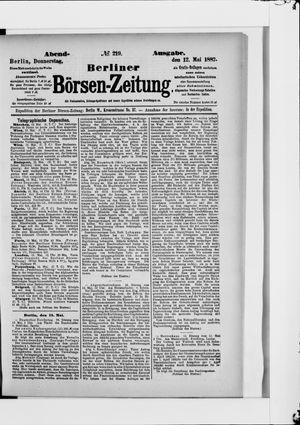 Berliner Börsen-Zeitung vom 12.05.1887
