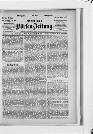 Berliner Börsen-Zeitung vom 13.05.1887