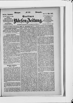 Berliner Börsen-Zeitung vom 14.05.1887