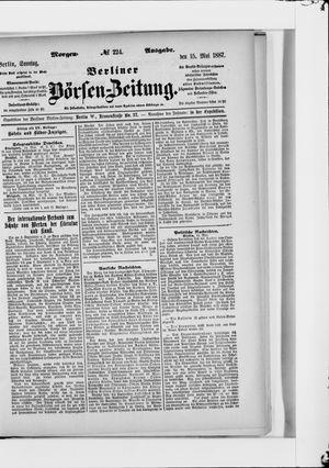 Berliner Börsen-Zeitung vom 15.05.1887
