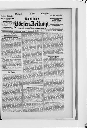 Berliner Börsen-Zeitung vom 18.05.1887