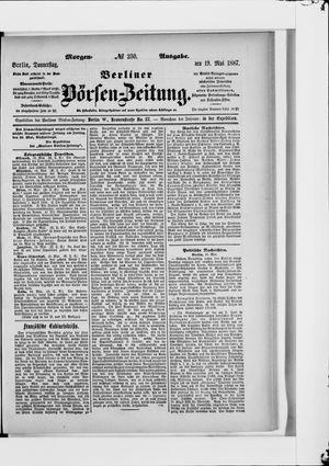 Berliner Börsen-Zeitung on May 19, 1887