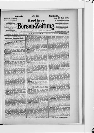 Berliner Börsen-Zeitung vom 20.05.1887