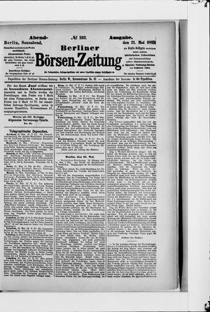 Berliner Börsen-Zeitung vom 21.05.1887
