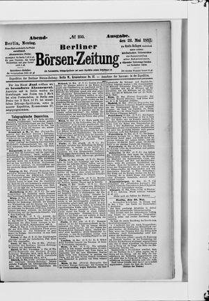 Berliner Börsen-Zeitung vom 23.05.1887