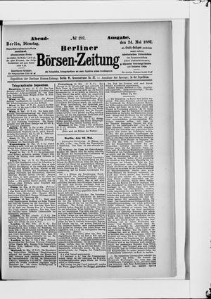 Berliner Börsen-Zeitung vom 24.05.1887