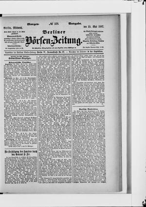 Berliner Börsen-Zeitung vom 25.05.1887