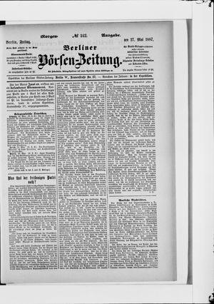 Berliner Börsen-Zeitung vom 27.05.1887