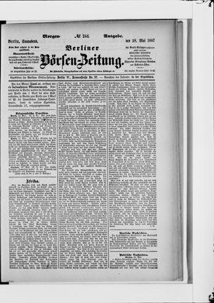 Berliner Börsen-Zeitung vom 28.05.1887