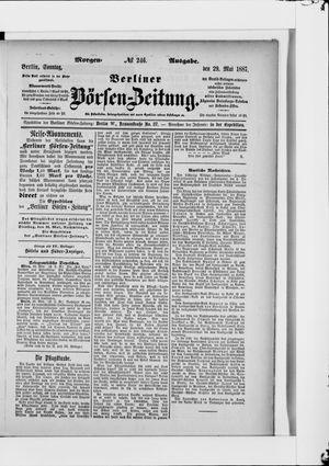 Berliner Börsen-Zeitung vom 29.05.1887