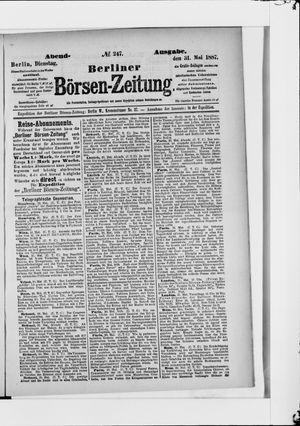 Berliner Börsen-Zeitung vom 31.05.1887