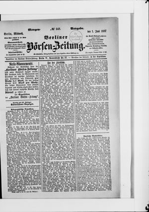 Berliner Börsen-Zeitung vom 01.06.1887