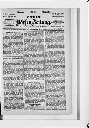Berliner Börsen-Zeitung on Jun 2, 1887