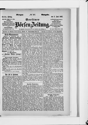 Berliner Börsen-Zeitung vom 03.06.1887