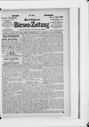 Berliner Börsen-Zeitung vom 04.06.1887