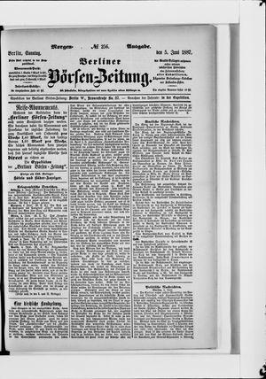Berliner Börsen-Zeitung vom 05.06.1887