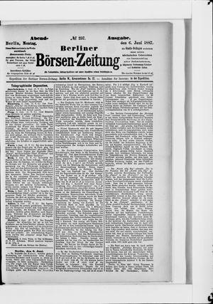 Berliner Börsen-Zeitung vom 06.06.1887