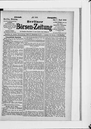 Berliner Börsen-Zeitung vom 07.06.1887
