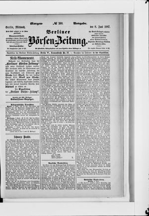 Berliner Börsen-Zeitung vom 08.06.1887