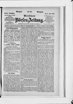 Berliner Börsen-Zeitung vom 09.06.1887