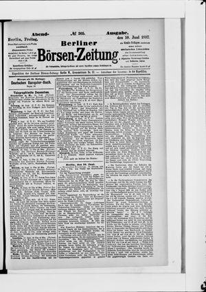 Berliner Börsen-Zeitung on Jun 10, 1887
