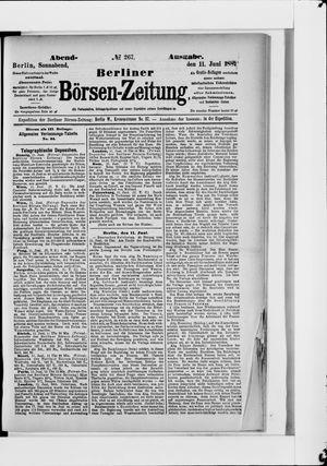 Berliner Börsen-Zeitung vom 11.06.1887